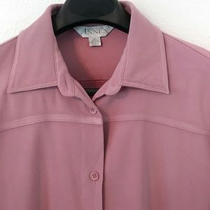 CASUAL CORNER ANNEX Purple L/S SHIRT